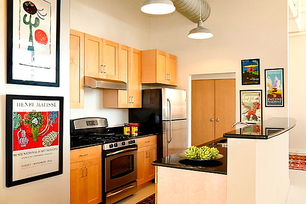 Sample furnished kitchen