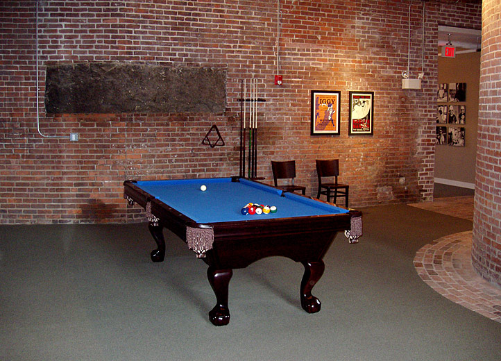 Billiards in the common areas